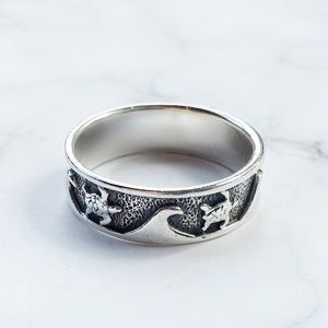 Other - 🐢 Sterling Silver Turtle and Wave Ring